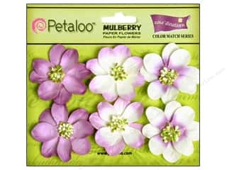 Petaloo Coredinations CM Camelia Pansy Purple 6pc