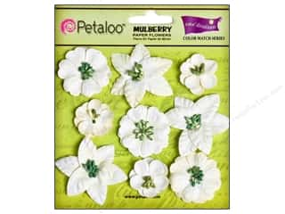 Coredinations Clearance Crafts: Petaloo Coredinations Color Match Mini Floral White 9pc