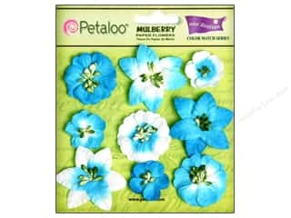 Clearance Petaloo Coredinations Color Match: Petaloo Coredinations CM Mini Floral Marine Bl 9pc