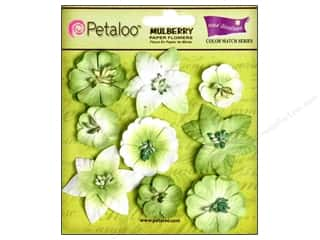 Clearance Petaloo Coredinations Color Match: Petaloo Coredinations Color Match Mini Floral Mantis Green 9pc