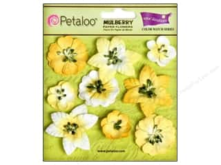 Clearance Petaloo Coredinations Color Match: Petaloo Coredinations CM Mini Floral Tulip Ylw 9pc