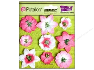 Clearance Petaloo Coredinations Color Match: Petaloo Coredinations Color Match Mini Floral In The Pink 9pc
