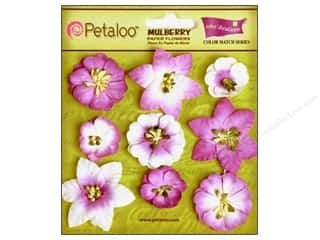 Clearance Petaloo Coredinations Color Match: Petaloo Coredinations Color Match Mini Floral Pansy Purple 9pc