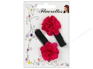 Mark Richards: Mark Richards Fluerettes Flower Barrette Hot Pink