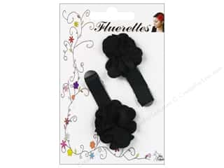 Mark Richards Fabric Flowers: Mark Richards Fluerettes Flower Barrette Black