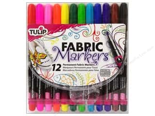 Weekly Specials Tulip Body Art: Tulip Fabric Marker Fine Tip Astd 12pc