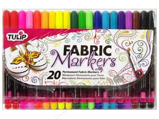 Collins Fabric Markers, Temporary & Permanent: Tulip Fabric Marker Fine Tip Multi 20pc