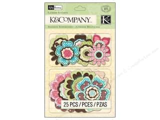Cork DieCuts Adhesive Stack: K&Company Layered Accents Kelly Panacci Blossom