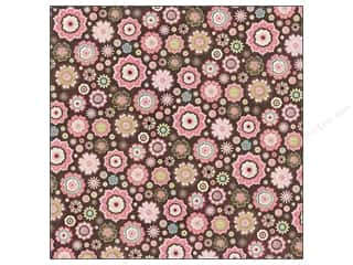 Glitter Brown: K&Company Paper 12x12 Kelly Panacci Blossom Flowers Glitter Brown (12 pieces)