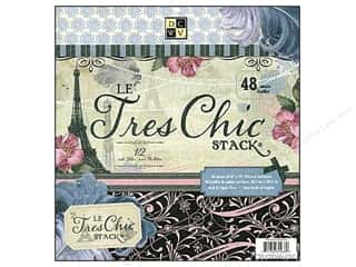 2013 Crafties - Best Scrapbooking Supply DieCuts Paper Stacks: DieCuts 12 x 12 in. Paper Stack Le Tres Chic