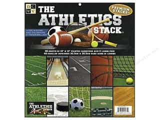 2013 Crafties - Best Scrapbooking Supply DieCuts Paper Stacks: DieCuts 12 x 12 in. Paper Stack Athletics