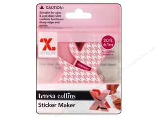 Xyron Sticker Maker Teresa Collins Pink Permanent