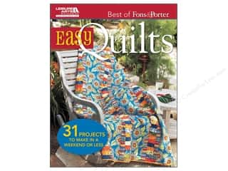 Leisure Arts Clearance Books: Leisure Arts Best Of Fons & Porter Easy Quilts Book