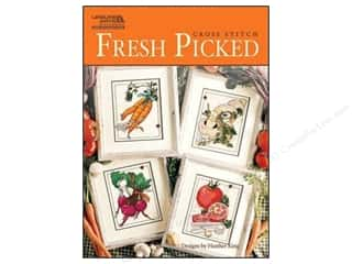 Stitchery, Embroidery, Cross Stitch & Needlepoint Crafting Kits: Leisure Arts Cross Stitch Fresh Picked Pattern