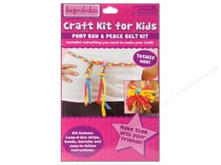Leisure Arts Kit Loop-D-Doo Pony Bow & Peace Belt