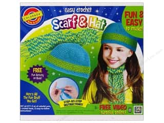 Colorbok Arts & Crafts Crochet Scarf & Hat