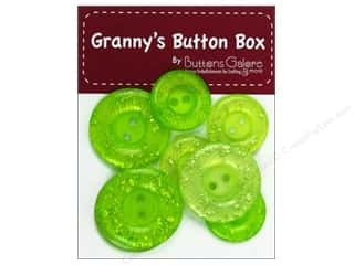 Buttons Galore Grannys Button Glitter Key Lime