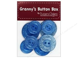 Buttons Galore Grannys Button Glitter Blueberry