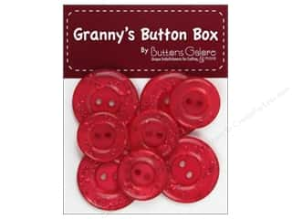 Buttons Galore Grannys Button Glitter Cherry