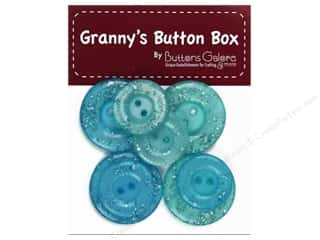 Buttons Galore Grannys Button Glitter Aqua Mist