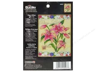 Cross Stitch Project Burgundy: Bucilla Counted Cross Stitch Kit 5 x 7 in. Day Lillies