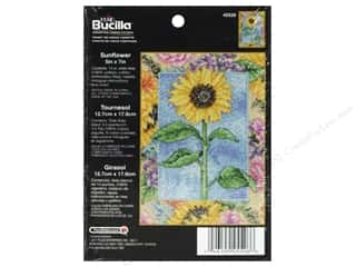 Weekly Specials Bucilla Beginner Cross Stitch Kit: Bucilla Cross Stitch Kit Count 5x7 Sunflower