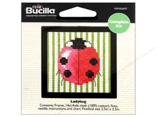 Bucilla Cross Stitch Kit Count Kit 2.5&quot; Ladybug