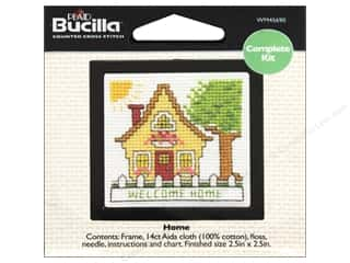 "Bucilla Cross Stitch Kit Count Kit 2.5"" Home"