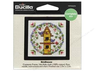 "Bucilla Cross Stitch Kit Count Kit 2.5"" Birdhouse"