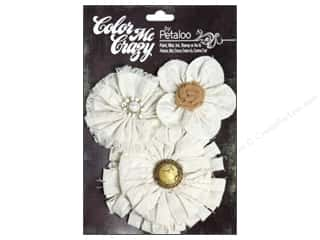 Canvas Home Basics Embellishment Flowers / Blossoms / Leaves: Petaloo Color Me Crazy Flowers Canvas Shabby