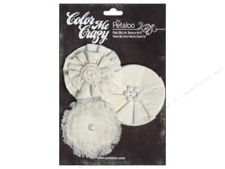 Canvas Home Basics Embellishment Flowers / Blossoms / Leaves: Petaloo Color Me Crazy Flowers Canvas Straight