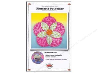 La Todera Quilt Patterns: La Todera Plumeria Potholder Pattern