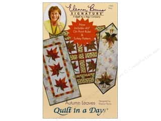 "Quilt in a Day: Quilt In A Day Autumn Leaves Pattern with 4.5"" On Point Ruler"