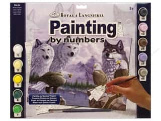 Royal Rub Ons Royal Paint Artist Acrylic: Royal Paint By Number Adult Wolves