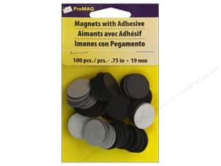 "Magnets: ProMag Magnet 0.75"" Round Adhesive 100pc"