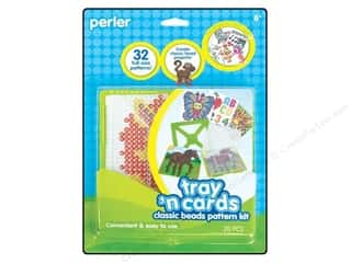 Cards Craft & Hobbies: Perler Tray 'n Cards Pattern Kit Classic Beads