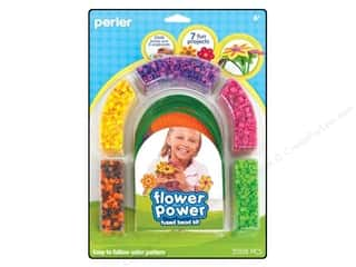 Crafting Kits Flowers: Perler Fused Bead Kit Flower Power