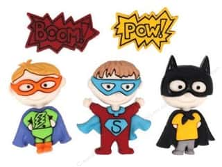 Sewing & Quilting Children: Jesse James Dress It Up Embellishments Be My Super Hero