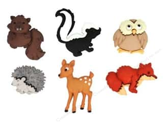 Jesse James Buttons Animals: Jesse James Dress It Up Embellishments Forest Babies