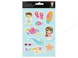 Summer Chipboard Shapes: Imaginisce Stickers Makin' Waves Canvas Summer