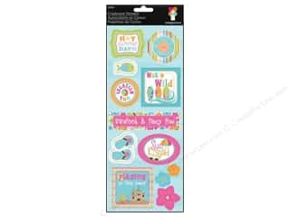 Summer Chipboard Shapes: Imaginisce Stickers Makin' Waves Chipboard Summer