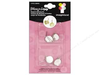 Imaginisce i-top Magni-Top Earring Kit Silver 4pc