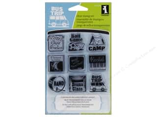 Clearance Plaid Stamps Clear: Inkadinkado InkadinkaClings Clear Stamp Bundle Mini Van Mom