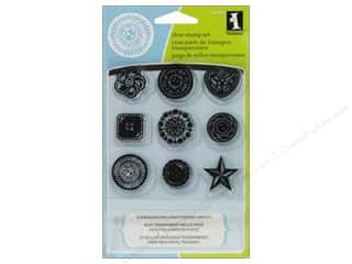 Inkadinkado InkadinkaClings Clear Stamp Bundle Buttons