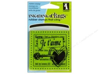 "Inkadinkado Stamp ""Clings"" Mini Je T'Aime"