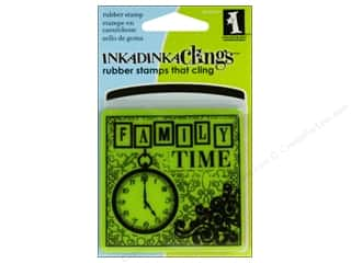 2013 Crafties - Best Adhesive: Inkadinkado InkadinkaClings Rubber Stamp Mini Family Time