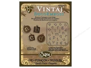 Sizzix Emboss Folder Vintaj DecoEmboss Lower Type