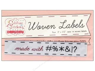 Borders $0 - $3: Sublime Stitching Woven Label Made With #%*&!?