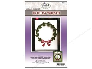 Projects & Kits Christmas: Quilled Creations Quilling Kit Quill-A-Card Holiday Wreath