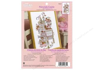 "Cross Stitch Project 14"": Bucilla Counted Cross Stitch Kit Birth Record Fairytale Castle"